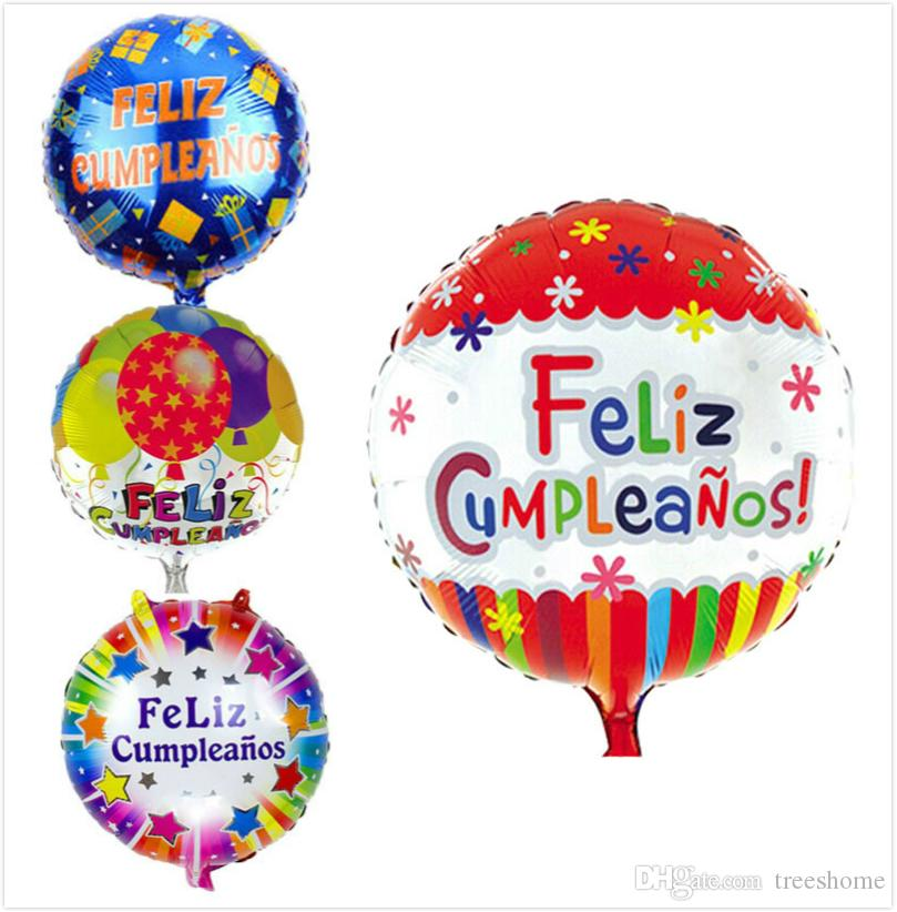 2019 18 Inch Spanish Letter Feliz Cumpleanos Cartoon Balloon Happy