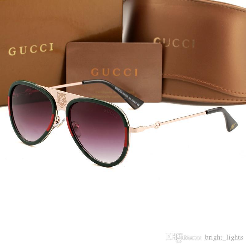 Compre Alta Qualidade Piloto Clássico Óculos De Sol Designer De Marca Dos  Homens Das Mulheres Óculos De Sol Eyewear Ouro Metal Verde 55mm 60mm Lentes  De ... 0b1253e6e0