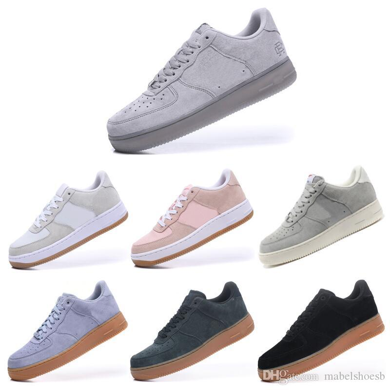 89f73ae13509a 2019 1 Classic Low Suede Force Skateboarding Shoes 07 SE LV8 Mens Womens  Fashion Designer Noir Marron Reigning Champ Casual Sneakers Sport Trails  From ...