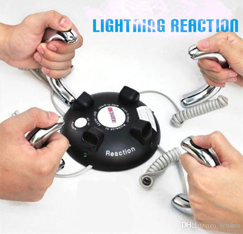 Moda Divertida reacción de relámpago recargada Descarga eléctrica Choque Juego impactante Partido emocionante Truco eléctrico Detector de choque Broma regalos