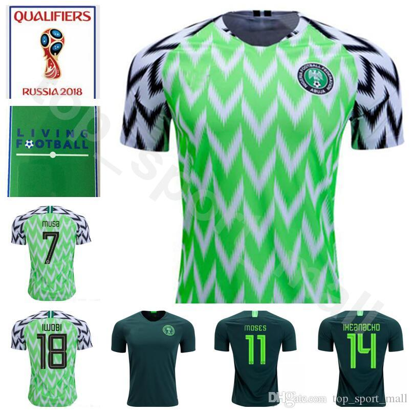 2019 Men 7 Ahmed Musa Jersey 2018 World Cup 10 John Obi Mikel 11 Victor  Moses Football Shirt Kits Personalized Home Green Away Thailand From  Top sport mall 88a3f5f19