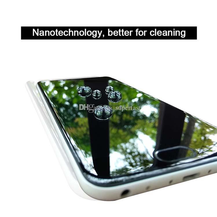 شاشة فائق 1ML سائل تقنية النانو حامي 3D منحني حافة مكافحة خدش الزجاج المقسى السينمائي للحصول على 12 XS 7 8 زائد سامسونج S8