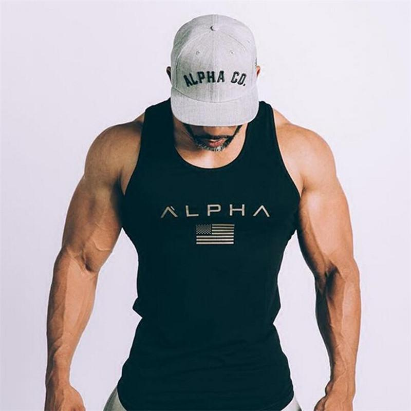 b95d7e6b3ac5 2019 Sleeveless Gym T Shirt Men Running Shirt Summer Vest Cotton Breathable  Mens Tank Top Gym Workout Fitness T Shirt Sport From Alexandr