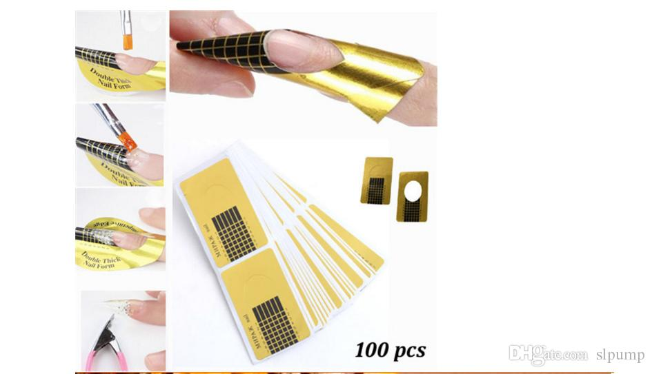 Nail Art Extension Sticker Guide Form Acrylic Professional Nail Tools Gel Nail Polish Curl Tips For Women
