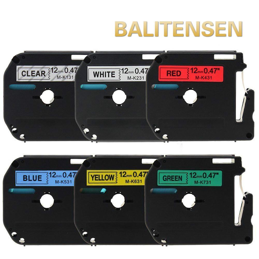 df018e30aea 2019 6 Packs Compatible Brother P Touch M Label Tape Combo Set 12mm 8m M131  M231 M431 M531 M631 M731 For Brother P Touch PT 90 From Yellowtech