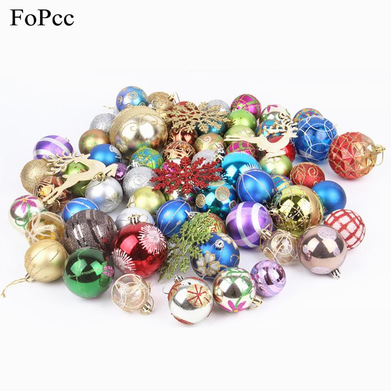 pack 3 8cm colorful christmas balls ornaments diy xmas tree hanging baubles for festival party decoration supplies christmas decorations shop online - Colorful Christmas Decorations