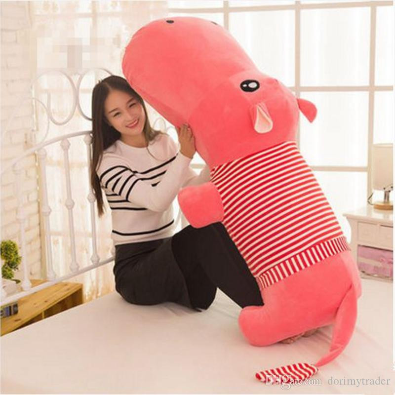2019 Dorimytrader Huge Soft Animal Lying Hippo Plush Toy Big Cartoon