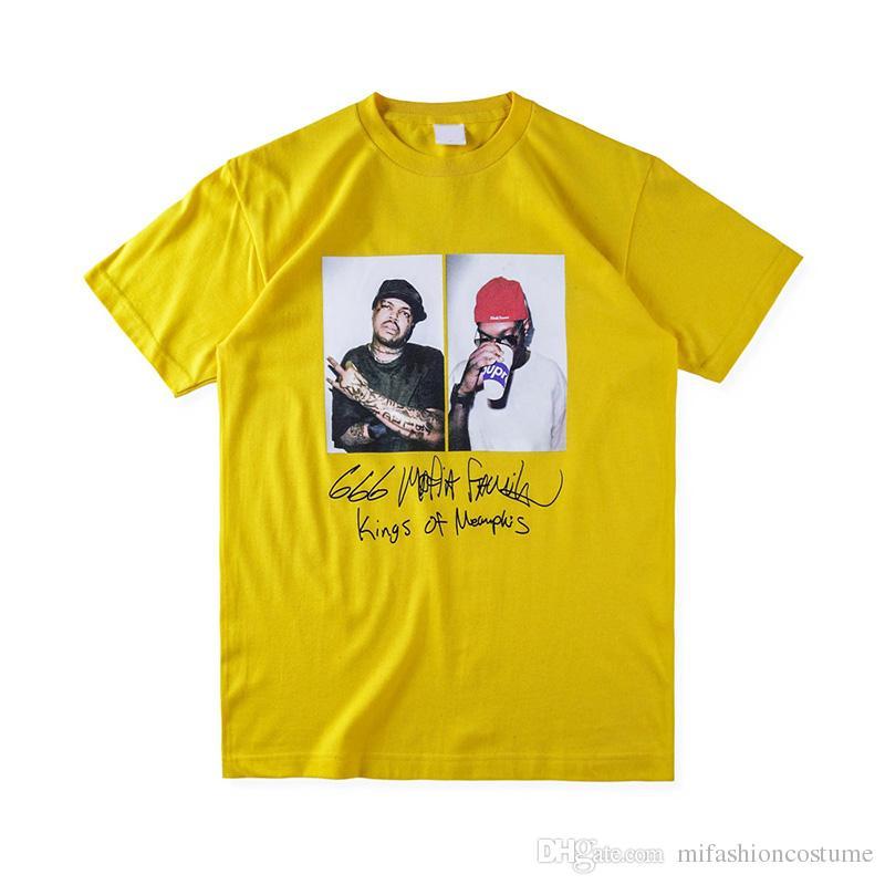 2018 europa Mode Hohe Qualität Box Anime Hip Hop Drei Sechs Mafia T Skateboard Cooles T-shirt Männer Frauen Baumwolle Lässig Cartoon T-Shirt