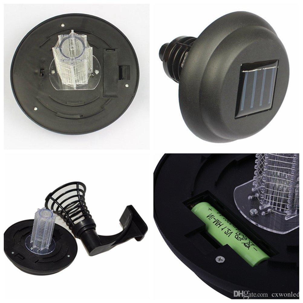 Güneş Enerjili Sivrisinek Katili Lamba Asın veya Yerde Stake LED Işık Haşere Bug Zapper Böcek Bahçe Çim ışık