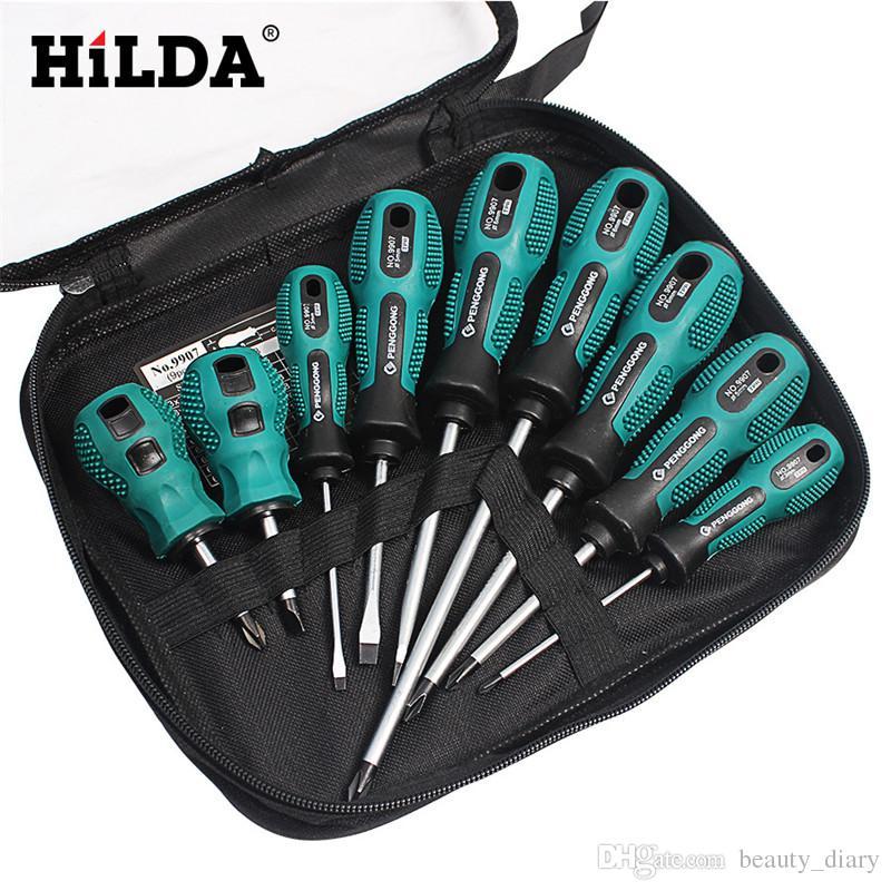 Hand tool 9 in 1 Screwdriver Set Multi-Bit Tools Repair Torx Screw Driver Screwdrivers Kit Home Useful Multi Tool