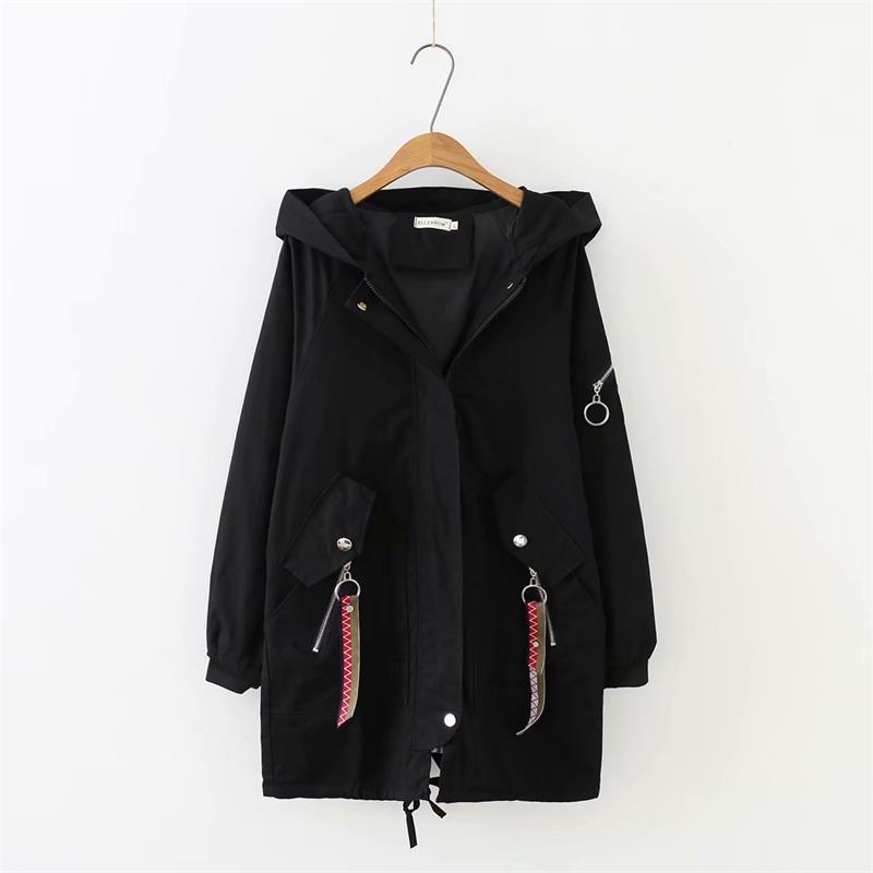 La Coat Acheter À Femmes Trench Capuche Plus 2018 Noir Taille Tqw5P8Fq