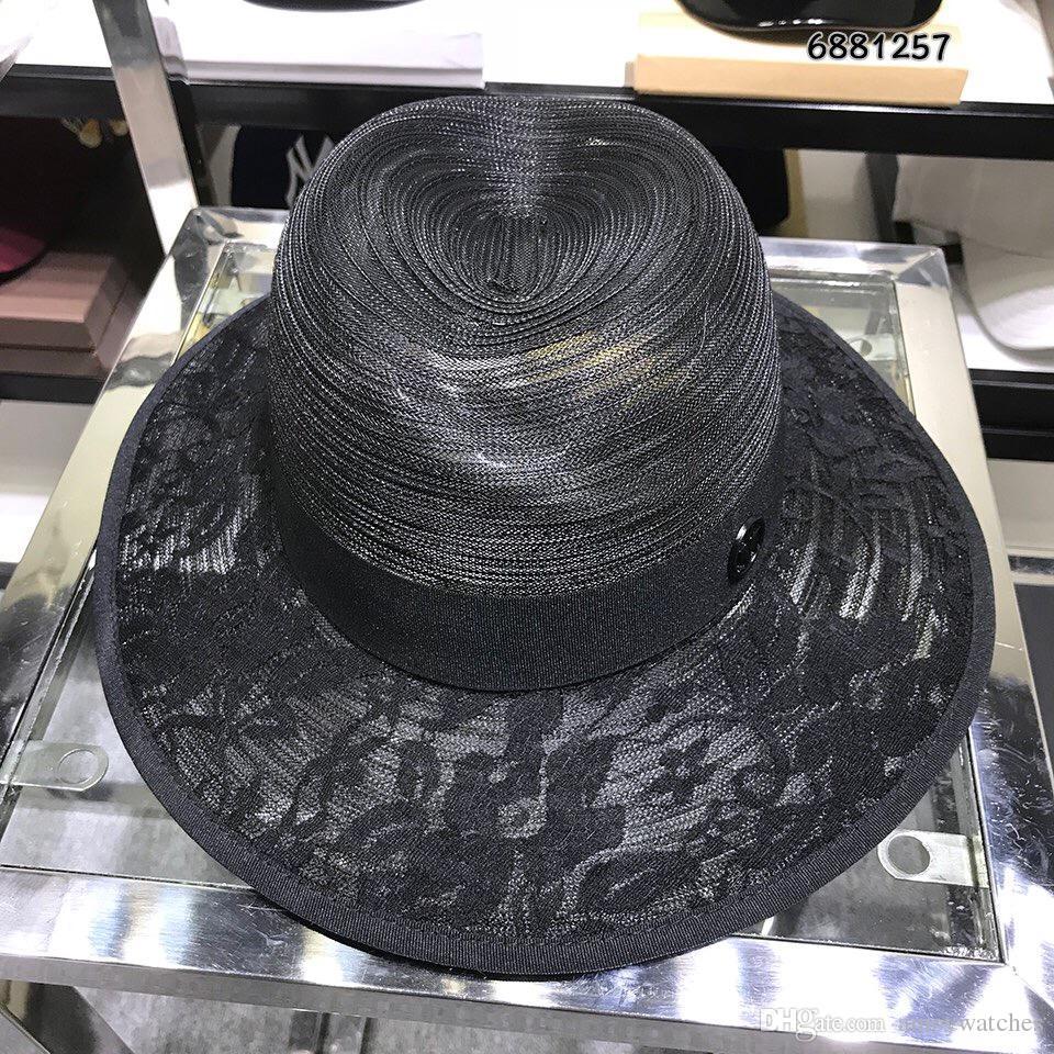 dd66215bf5319 Women Fashion Casual Hats Caps Black Cc Luxury Design Brand Wide Brim Hats Summer  Beach Hat For Lady Sunscreen Caps Women Hat Fashion Hat Luxury Hat Online  ...