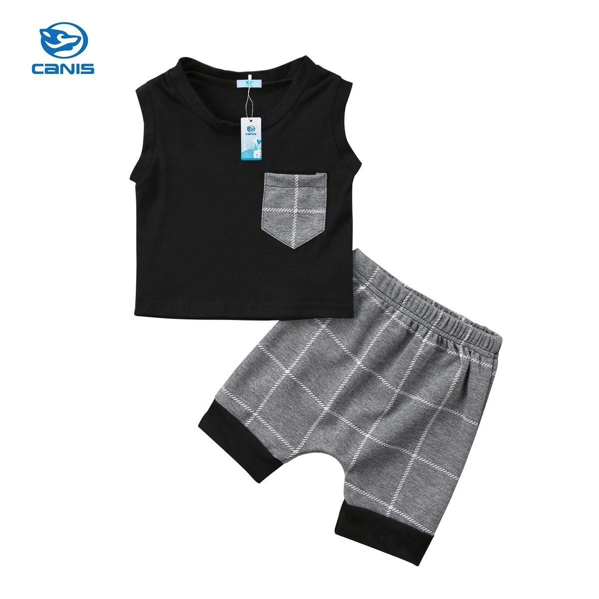 973e884adcf 2019 New Fashion Cute Toddler Kids Baby Boy Outfits Clothes T Shirt Tops+Pants  Trousers Set 0 24M From Cornemiu