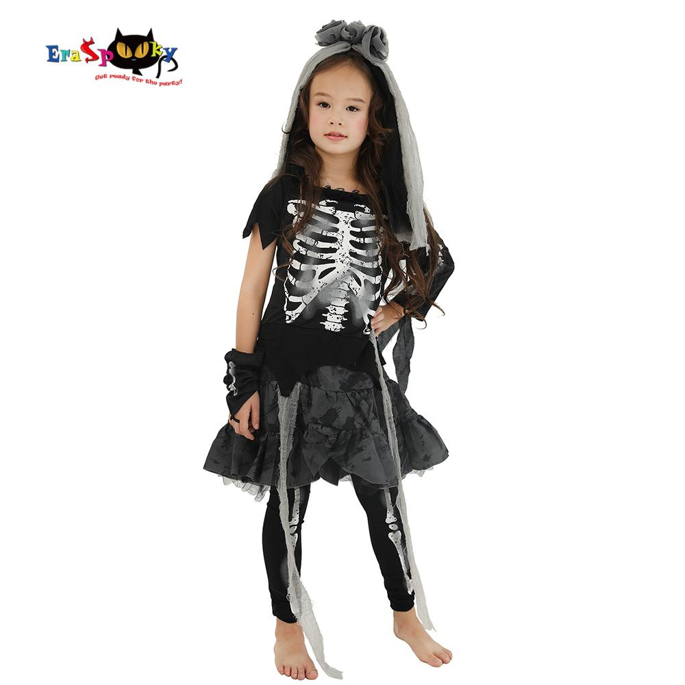 eraspooky halloween costume for kids scary skeleton zombie girls