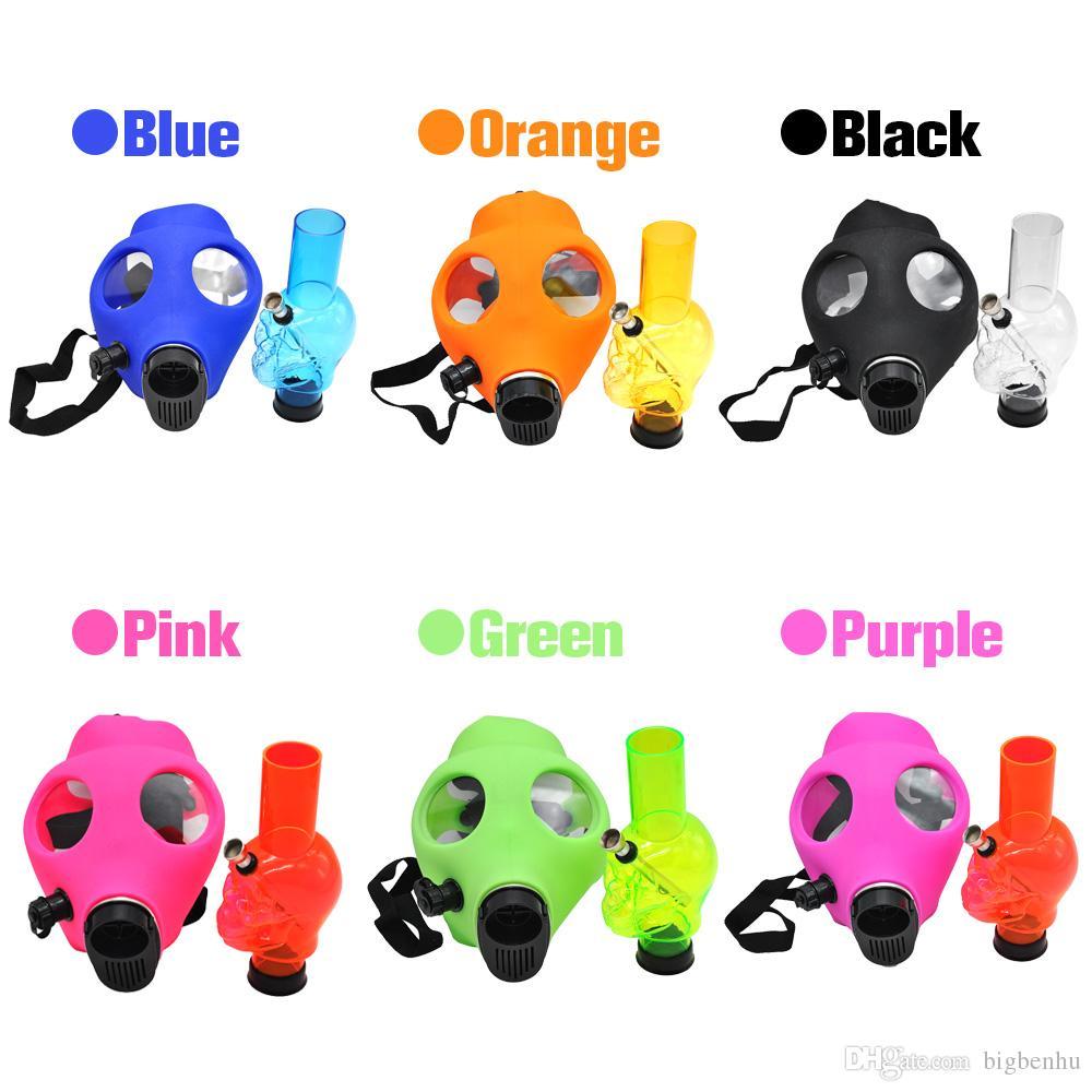 Silicone Mask Pipe Bong Creative Mask Acrylic Smoking Pipe Gas Mask acrylic bongs Pipes