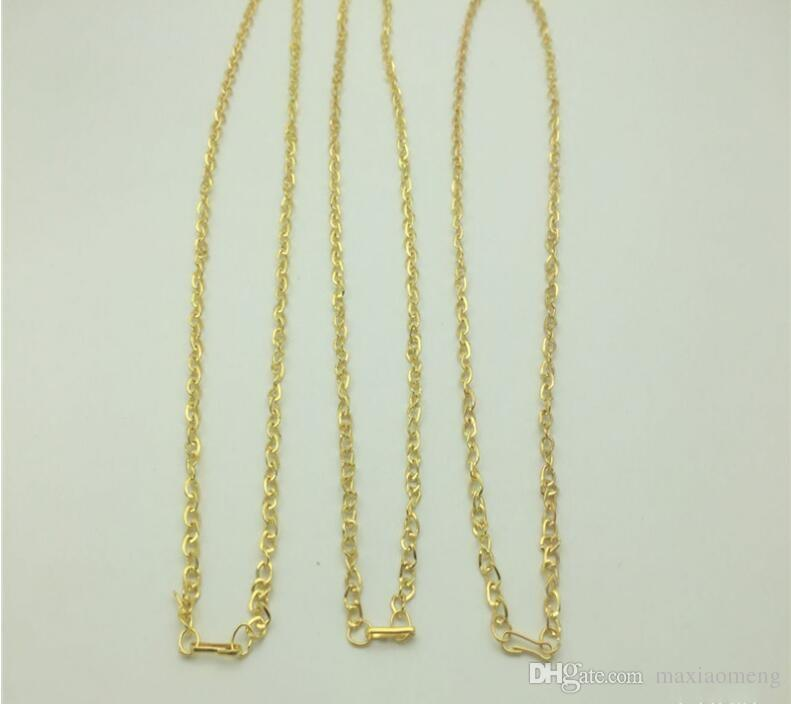 Alloy Plating Vietnam sand Gold Necklaces Twisted O shape chain Safety without stimulation Cheap Imitation gold Gift Necklaces 42 cm