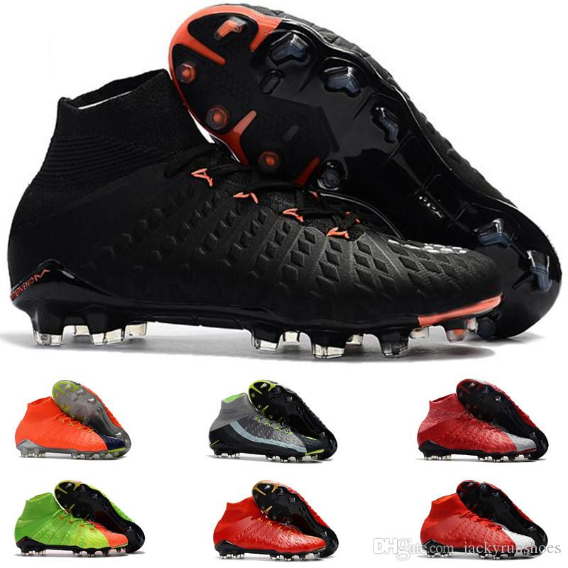 2b12e40cb7b 2019 2018 Original High Ankle Top Football Boots Hypervenom Phantom III DF  FG ACC Soccer Cleats HypervenomX Proximo TF IC AG Indoor Soccer Shoes From  ...