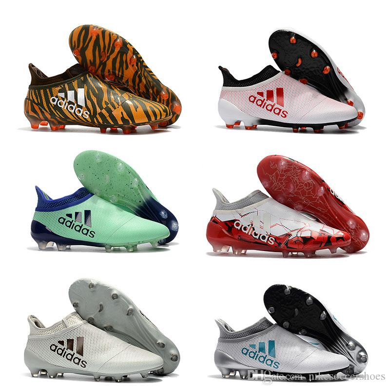 f91958513 Cheap Mens Soccer Cleats X 17+ Purespeed Confed Cup FG Free Shipping 17+  Purechaos FG Outdoor Football Shoes High Ankle Soccer Shoes