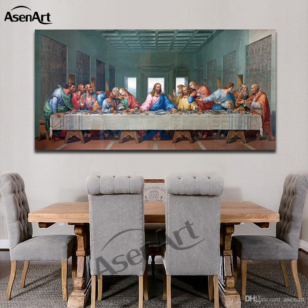 2019 The Last Supper Leonardo Da Vinci Oil Painting Picture Printed