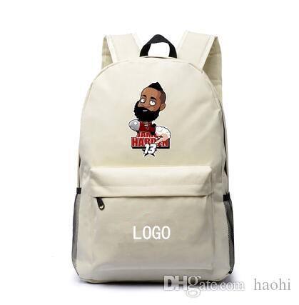 العلامة التجارية الكرتون الصواريخ ظهره حقيبة مدرسية جيمس هاردن لطيفة نجم daypack كرة السلة المدرسية في الهواء الطلق حقيبة الظهر الرياضة اليوم
