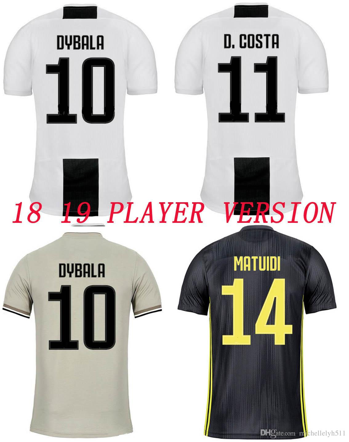0f209fecc02 2018 2019 Juventusing Player Version Soccer Jersey 18 19 DYBALA D. COSTA  RONALDO MANDZUKIC Footall Jersey Adult Playver Edition Soocer Shirt Juv  Player ...