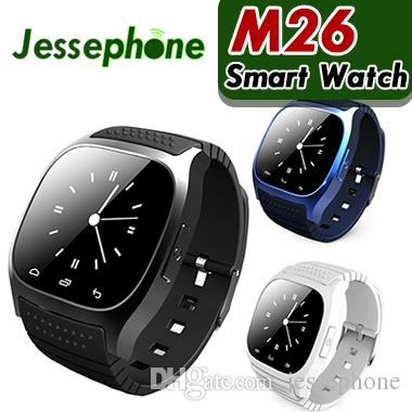 b8d07812ea5 Waterproof Smartwatches M26 Bluetooth Smart Watch With LED Alitmeter Music  Player Pedometer For Apple IOS Android Smart Phone Swap Smart Watch The  Smart ...