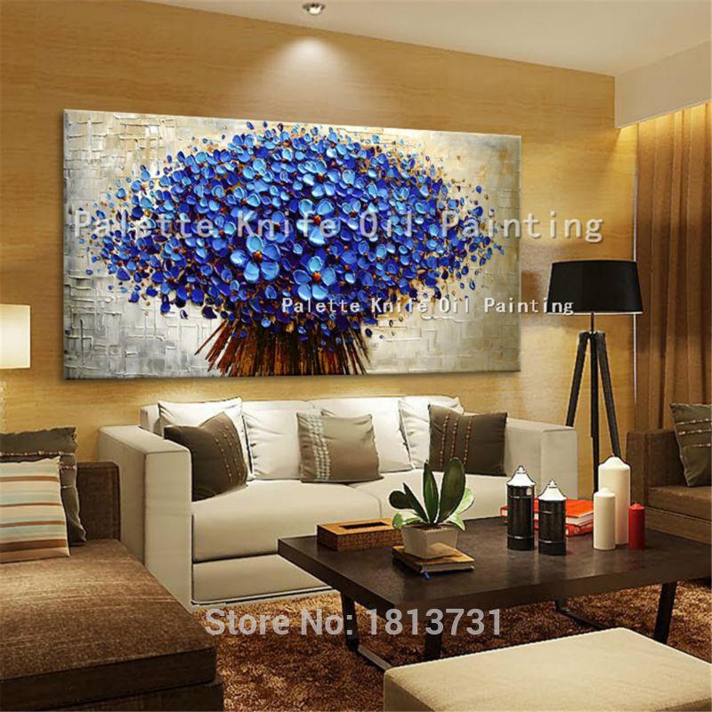 Großhandel Leinwand Malerei Spachtel 3d Textur Blumen Wandbilder Für  Wohnzimmer Cuadros Decoracion Acryl Quadros Wandkunst Decor Von Wuzhongtin,  ...