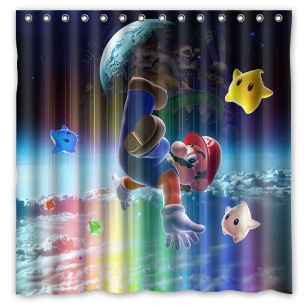 2019 180x180cm New Arrival Waterproof Fabric Super Mario Design Bathroom Shower Curtain Polyester Bath From Caley 4629