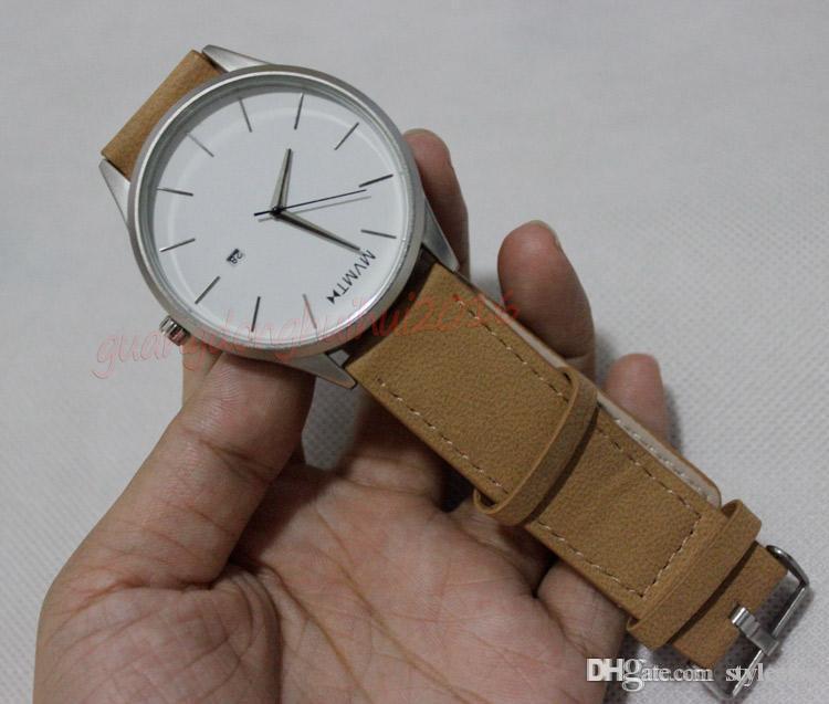 d64d5edc6a1c4 2018 Luxury Fashion Mens MVMT Watch Leather Strap Quartz Watches ...