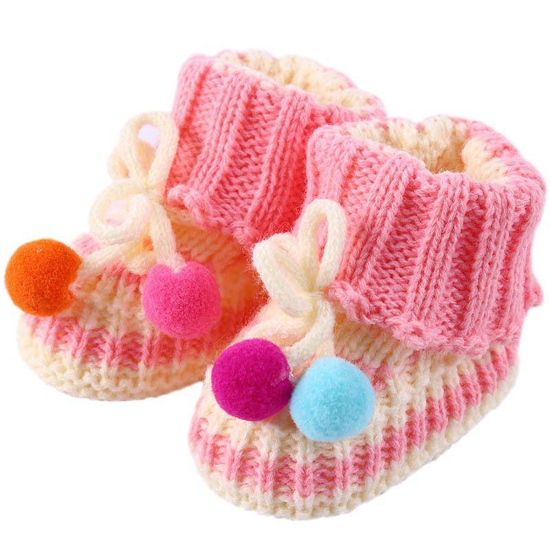 ff3227926 2017 Winter Baby Boys Girls Warm Knit Crochet Socks Toddler Infant Wool  Boots Crib Shoes K5 Fun Socks Sports Socks From Cover3129