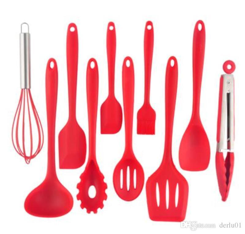 Juegos de utensilios de cocina Diseño Utensilios de cocina Cocina de  silicona resistente al calor Utensilios de cocina Herramienta de hornear ...