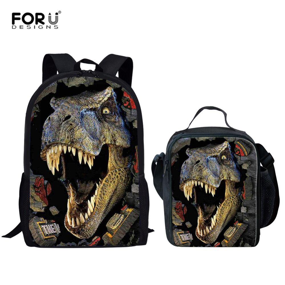 FORUDESIGNS Dinosaur 3D Printing Set School Backpacks For Boys Orthopedic  Satchel Schoolbag Children Kids Shoulder Book Bag 2018 Satchel Bags Man Bags  From ... 440978e7f2e32