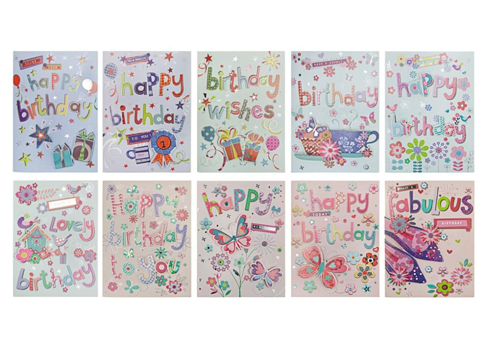 2018 10 Assorted Happy Birthday Gift Card 3 Folded Blank Music Greeting For Kids Girls And Boys Girlfriend Mom From Yujinnice 2356