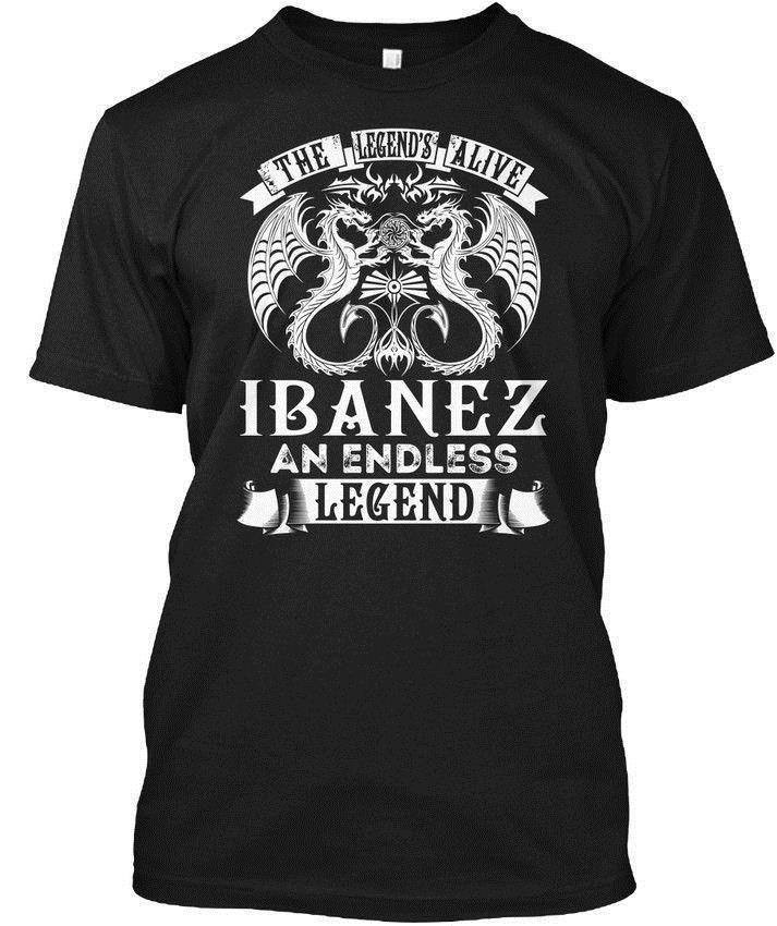 Ibanez Alive Name S - The Legend's An Endless Legend Wholesale Cool Casual Sleeves Cotton T-Shirt Fashion New T Shirts Tagless Tee T-Sh