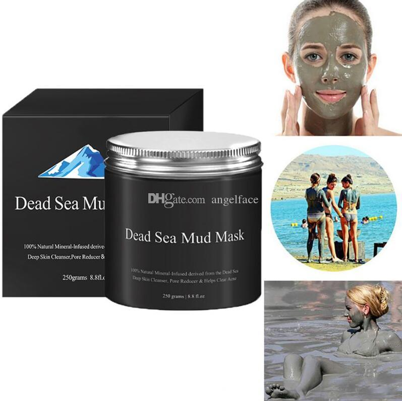 Dead Sea Mud Mask Deep Cleaning Hydrating Acne Blemish Black Mask Clearing Lightening Moisturizer Nourishing Pore Face Cleaner 250g gift
