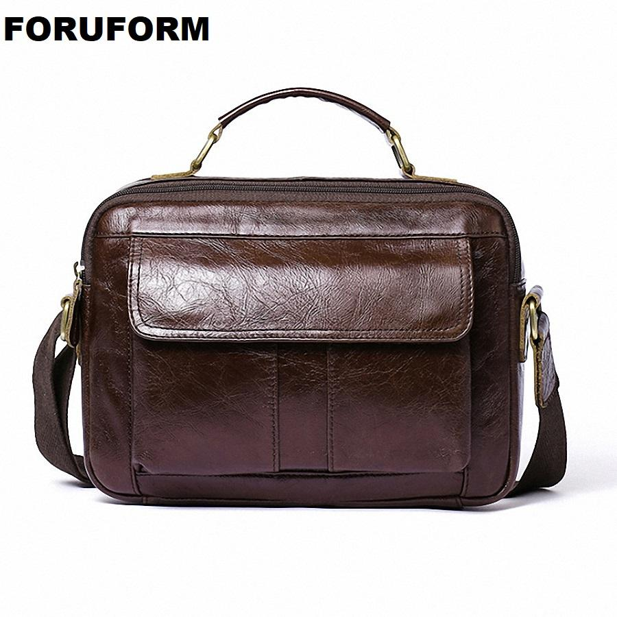 2559aff134 Genuine Leather Shoulder Bags Fashion Men Messenger Bag Small Ipad ...
