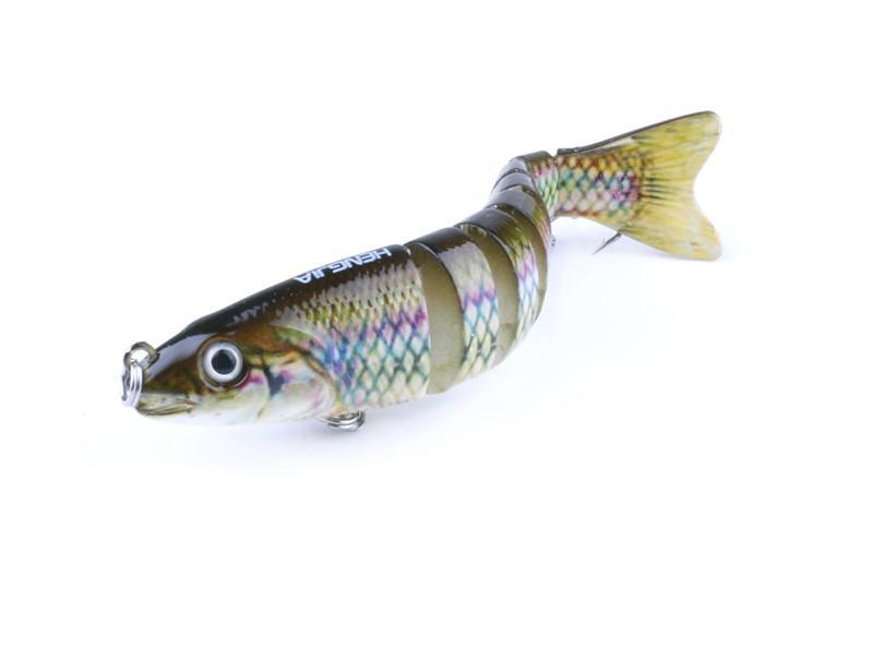 Бренд высокой доставленных 8 сегментов троллинг погружение кривая рыбалка приманки 18G 12.7 см моделирование кровотечение рыбы плавание бас воблеры приманки