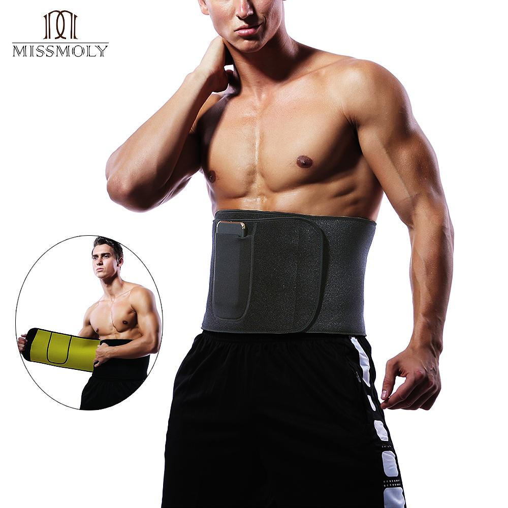 02ff0bf7a19c5 2019 Waist Trimmer Sweat Belt Weight Loss Waist Trainer Slimming Belt For  Men And Women Fat Burner Low Back Support Mens Shaper USPS From Aidior001