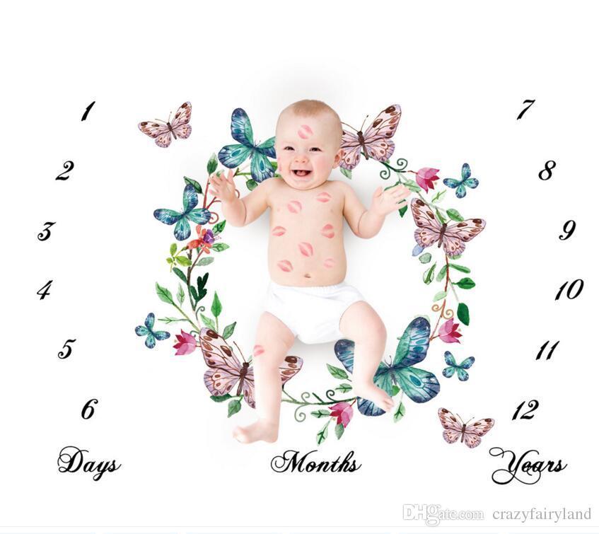 b3849d4b0 ... Props Letras De Bebé Flor Bebé Números Swaddle Cubierta Prop Para  Fotografía 100   100 CM Manta Regalo De Niños A  5.25 Del Crazyfairyland