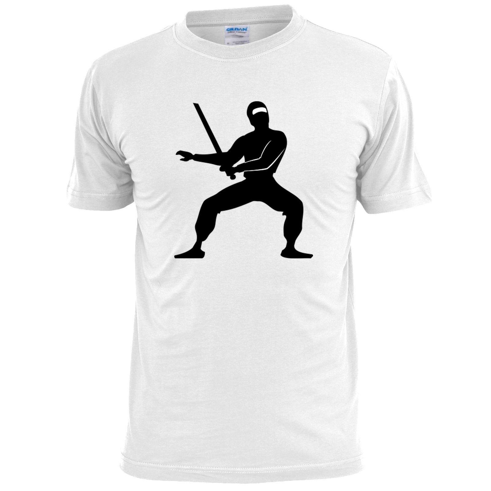 b4ebc821e5a NINJA SILHOUETTE MENS T SHIRT MARTIAL ARTS New Short Sleeve Round Collar Mens  T Shirts Fashion 2018 Nerd T Shirts Design Shirt From Viptshirt