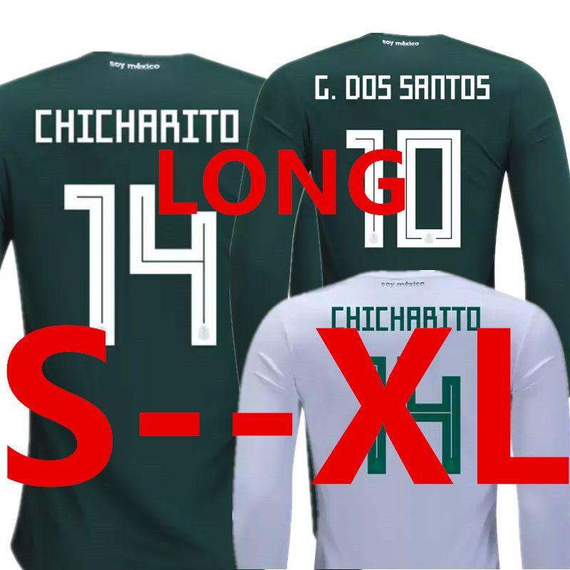 67d8dff49 Soccer Jersey Mexico Long Sleeve Camisetas De Futbol World Cup 2018 ...