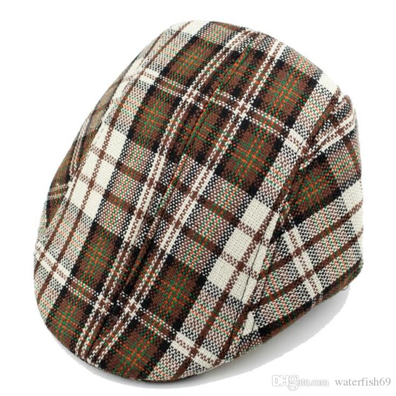 Fashion Spring and Autumn Kids Fashion Berets Plaid Hats Girl Boy Beret Hat Peaked Cap Child Leisure Caps Hats