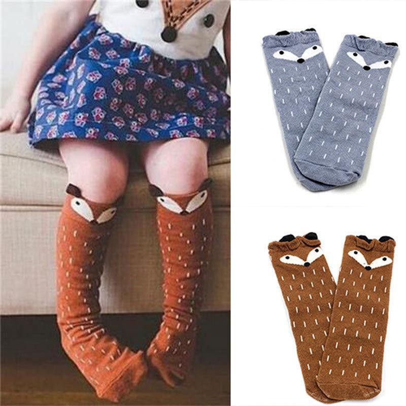 Pudcoco Cotton Socks For Baby Girls Kids Toddler Fox Pattern Cotton