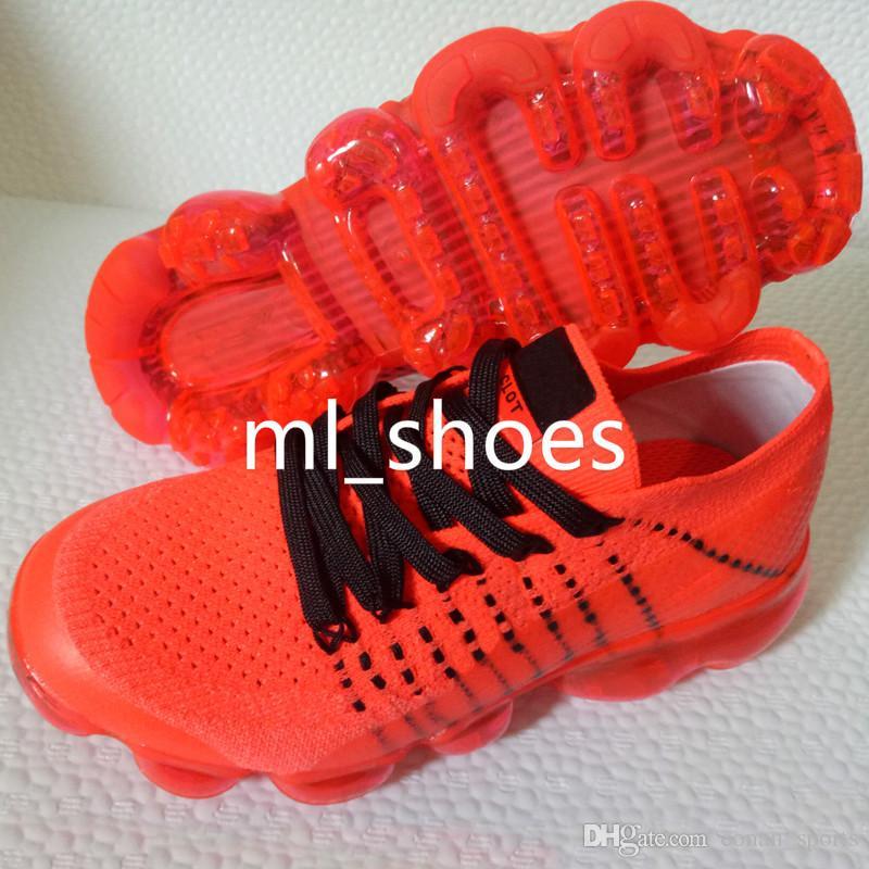 Kids Shoes 2018 Running Shoes Children Athletic Shoes Baby Boy Girl Sports Sneaker Black White Grey Orange Purple