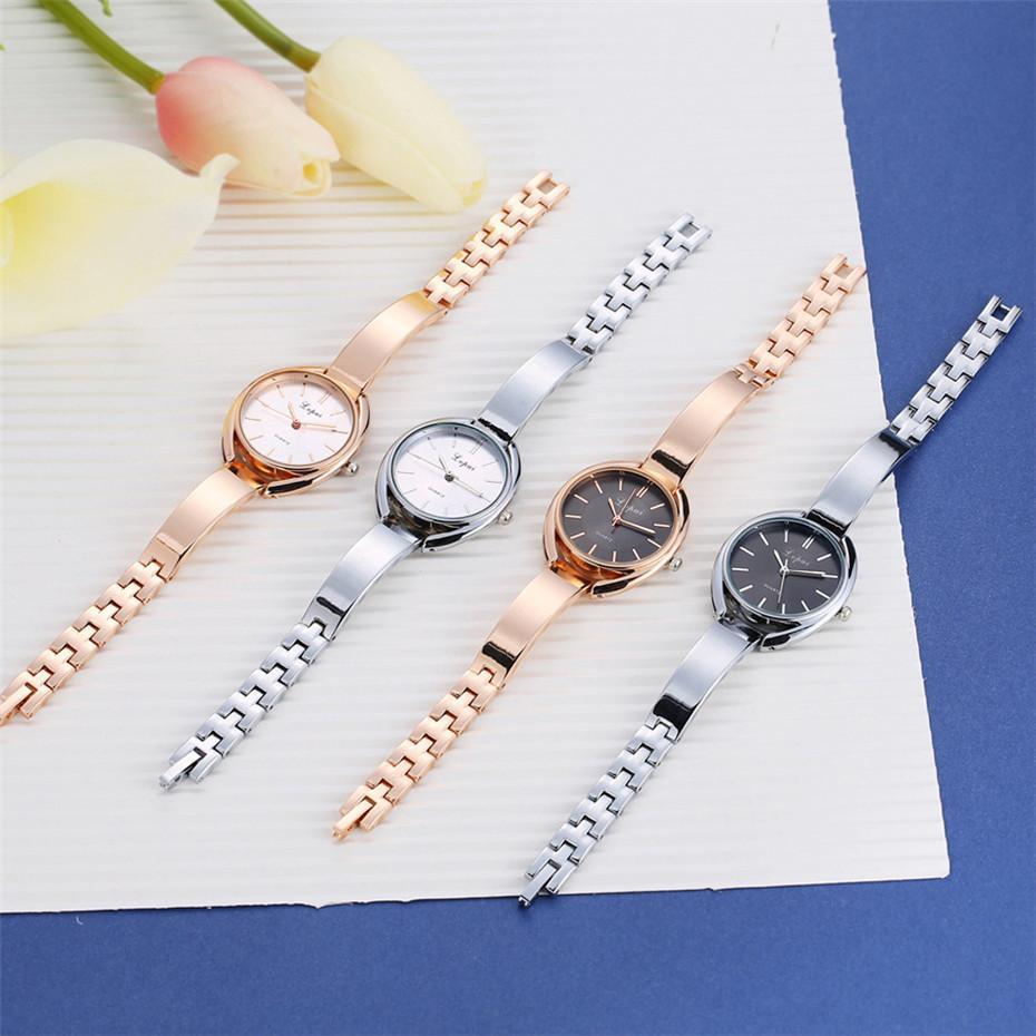 Bracelet Inoxydable Rond Bande Horloge Montres Dames Acier Manchette Pour Luxe Montre Quartz En Femmes Femme Cadran De CxordBe