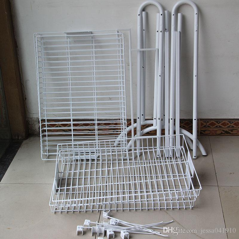 retail wire metal powder coated factory potato chip standing display shelf cell phone accessory racks supermarket shelves