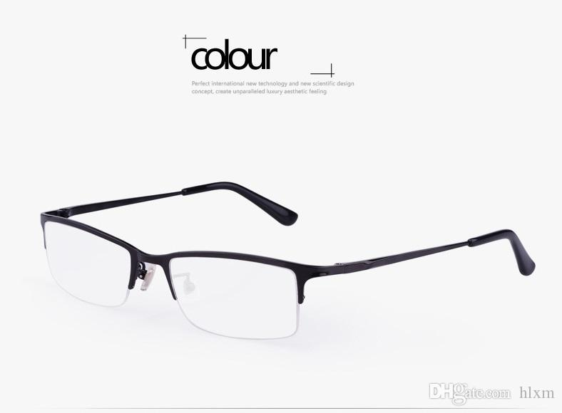 f64f491b168b 2019 New Eyeglasses Frame Men S Super Light Half Frame Pure Titanium  Commercial Leisure Glasses Frame Finished Myopia Matching Lens P8906 From  Hlxm