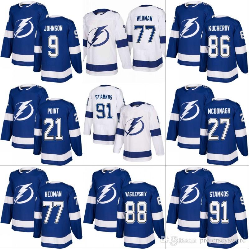 2019 Tampa Bay Lightning Jersey 9 Tyler Johnson 27 Ryan McDonagh 77 Victor  Hedman 86 Nikita Kucherov 91 Steven Stamkos Hockey Jerseys From  Projerseysword d91fc8be7