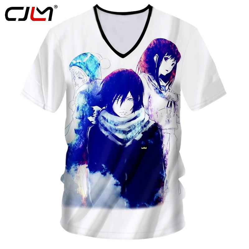 Men's Clothing T-shirts Cjlm T-shirt Hombre Hot Deep V Neck Slim Fit Anime 3d Tshirt Printed Death Note Hip Hop Plus Size 5xl 6xl Costuming T Shirt