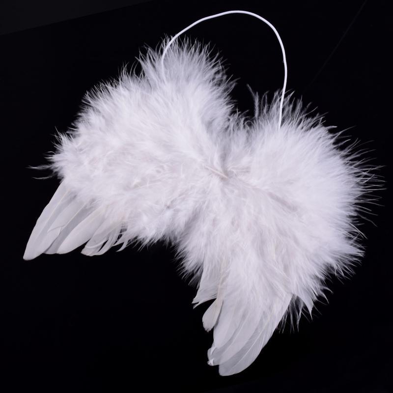 Baby White Feather Fairy Angel Wings Po / Pography Props Fiesta de disfraces Decoración 6-18 meses